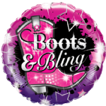 "18"" Boots and Bling Foil Balloon"
